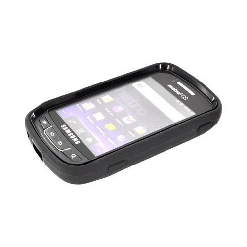 Samsung Rookie R720 Silicone Over Hard Case - Black
