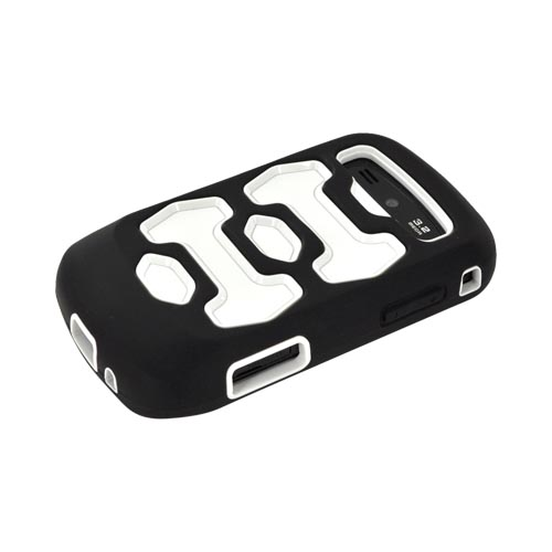 Samsung Rookie R720 Silicone Over Hard Case - Black/ White