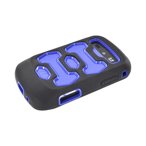Samsung Rookie R720 Silicone Over Hard Case - Blue/ Black
