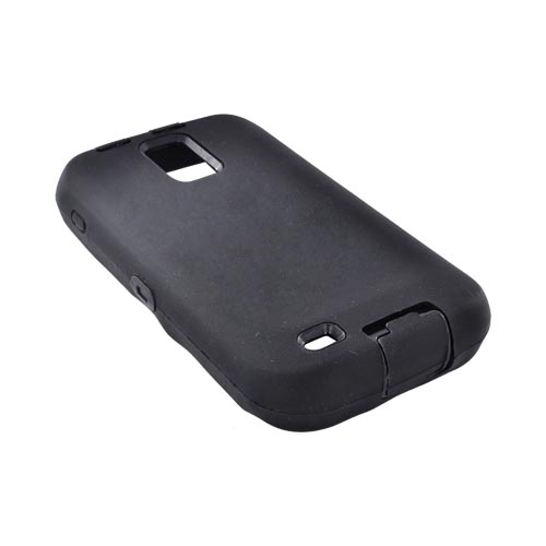 T-Mobile Samsung Galaxy S2 Silicone Over Hard Case - Black