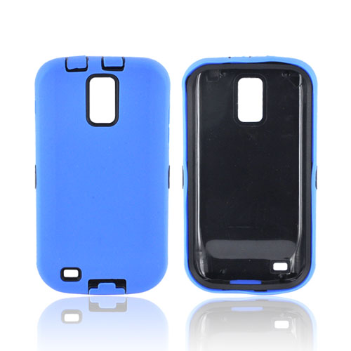 T-Mobile Samsung Galaxy S2 Silicone Over Hard Case - Blue/ Black