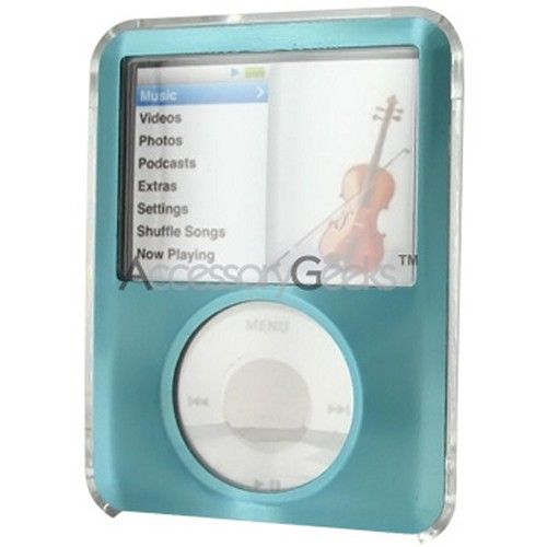 Apple iPod Nano Video Hard Case w/ Metallic Face - Blue
