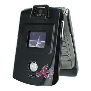 NCAA Licensed Motorola V3 MLB Atlanta Braves Protective Case