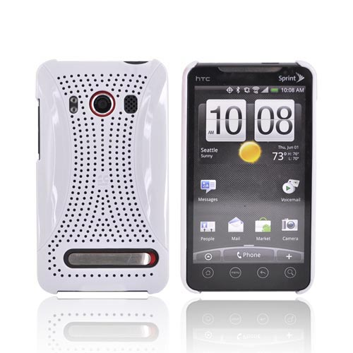 Premium HTC EVO 4G Hard Back Cover Case - Xmatrix White