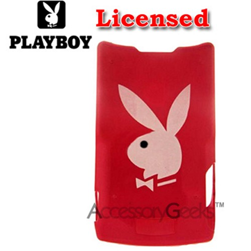 Licensed PlayBoy Motorola RAZR V3 Hard Case - White Bunny on Hot Pink