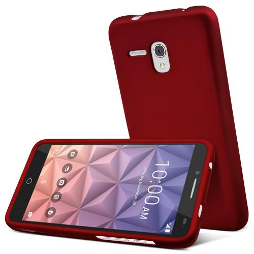 Alcatel OneTouch Fierce XL Case, [Red] Slim & Protective Rubberized Matte Hard Plastic Case