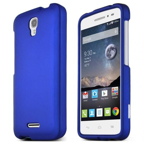 Alcatel Onetouch POP Astro Case, STANDARD BLUE Slim & Protective Rubberized Matte Hard Plastic Case