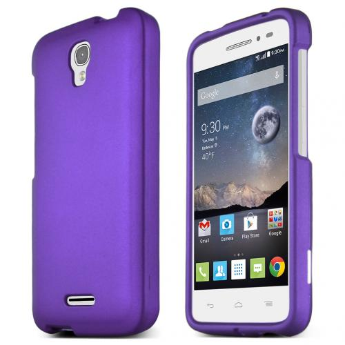 Alcatel Onetouch POP Astro Case, STANDARD PURPLE Slim & Protective Rubberized Matte Hard Plastic Case