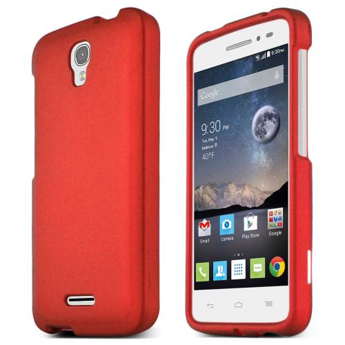 Alcatel Onetouch POP Astro Case, STANDARD RED Slim & Protective Rubberized Matte Hard Plastic Case