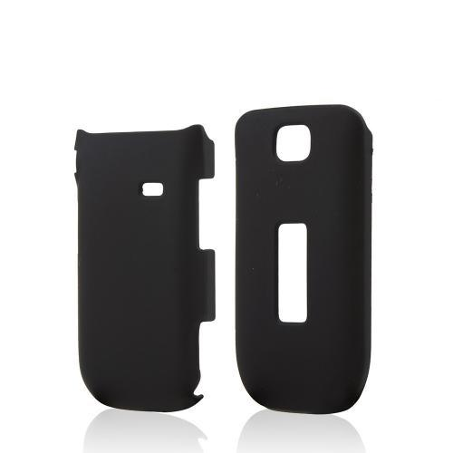 Black Rubberized Hard Case for Alcatel One Touch 768
