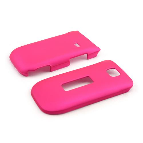 Hot Pink Rubberized Hard Case for Alcatel One Touch 768