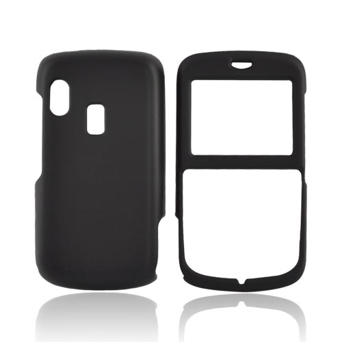 Luxmo Alcatel OT800 Rubberized Hard Case - Black