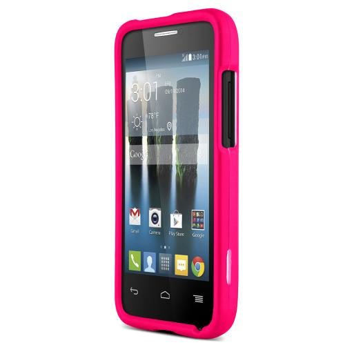One Touch Evolve 2 Case, [Hot Pink] Slim Grip Rubberized Hard Plastic Case for Alcatel One Touch Evolve 2