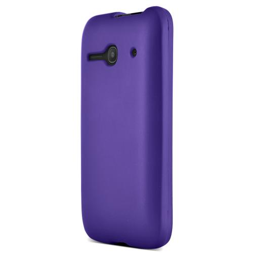 One Touch Evolve 2 Case, [Purple] Slim Grip Rubberized Hard Plastic Case for Alcatel One Touch Evolve 2
