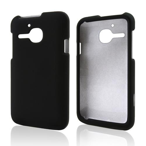 Black Rubberized Hard Case for Alcatel One Touch Evolve