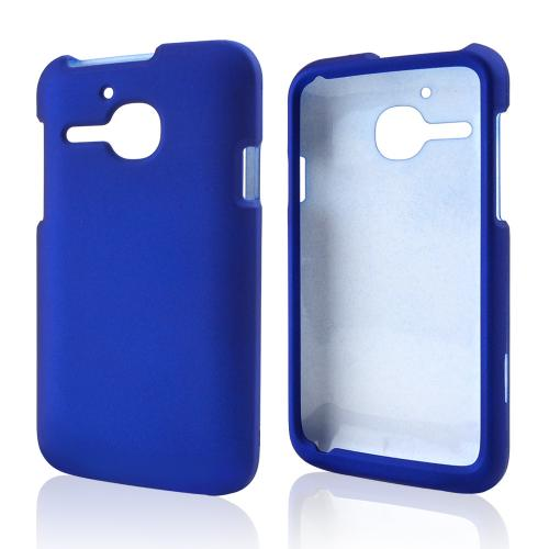 Blue Rubberized Hard Case for Alcatel One Touch Evolve