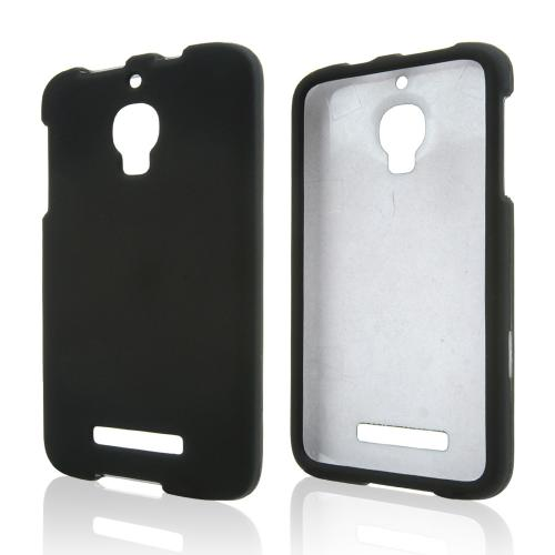 Black Rubberized Hard Case for Alcatel One Touch Fierce