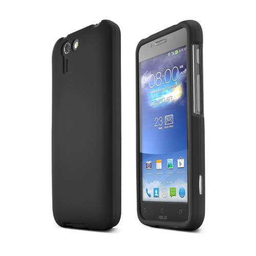 Black Asus PadFone X Matte Rubberized Hard Case Cover; Perfect fit as Best Coolest Design Plastic cases