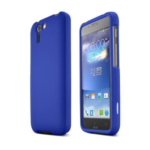 Blue Asus PadFone X Matte Rubberized Hard Case Cover; Perfect fit as Best Coolest Design Plastic cases
