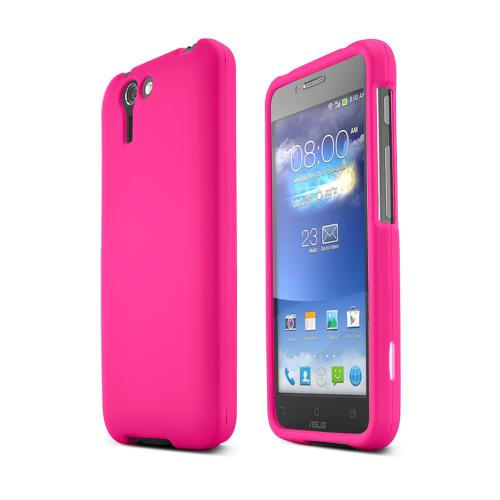 Hot Pink Asus PadFone X Matte Rubberized Hard Case Cover; Perfect fit as Best Coolest Design Plastic cases