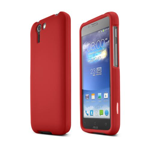 Red Asus PadFone X Matte Rubberized Hard Case Cover; Perfect fit as Best Coolest Design Plastic cases