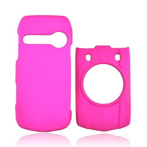 Casio G'zOne Hitachi Ravine C751 Rubberized Hard Case - Hot Pink