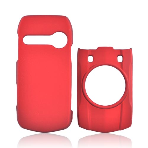 Casio G'zOne Hitachi Ravine C751 Rubberized Hard Case - Red
