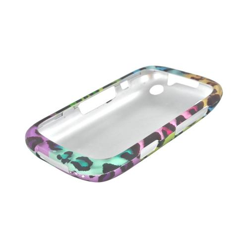 BlackBerry Curve 9310/9320 Rubberized Hard Case - Multi-Colored Artsy Leopard