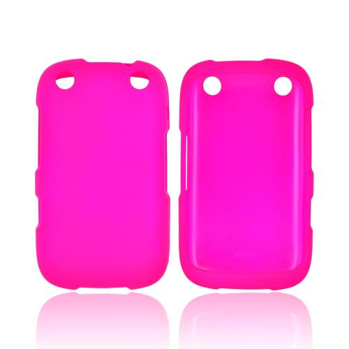 BlackBerry Curve 9310/9320 Rubberized Hard Case - Hot Pink