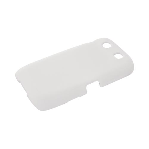 Blackberry Torch 9850 Rubberized Hard Case - Solid White