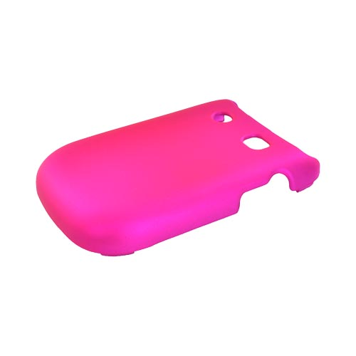 Blackberry Style 9670 Rubberized Hard Case - Hot Pink