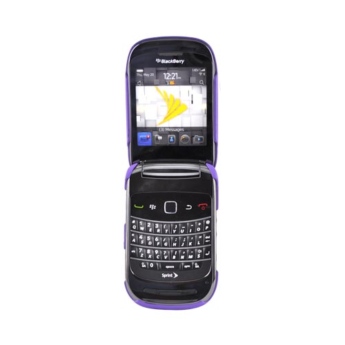 Blackberry Style 9670 Rubberized Hard Case - Purple
