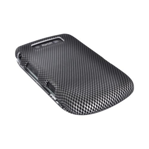 Blackberry Torch 9800 Rubberized Hard Case - Carbon Fiber