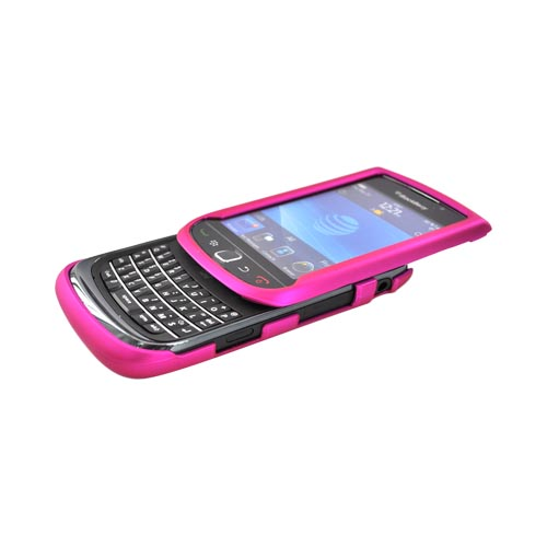 Blackberry Torch 9800 Rubberized Hard Case - Hot Pink