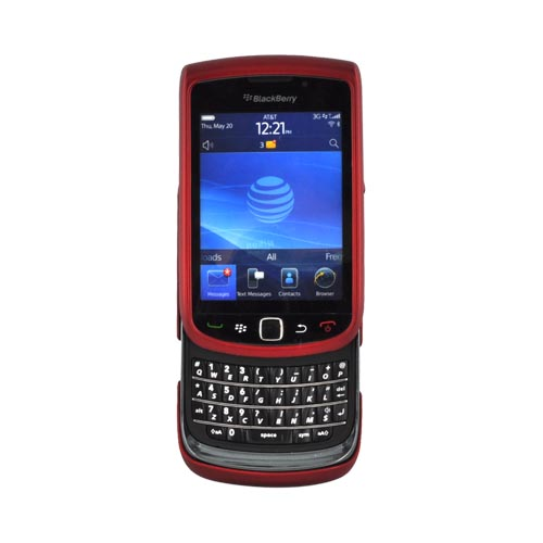 Luxmo Blackberry Torch 9800 Rubberized Hard Case - Red