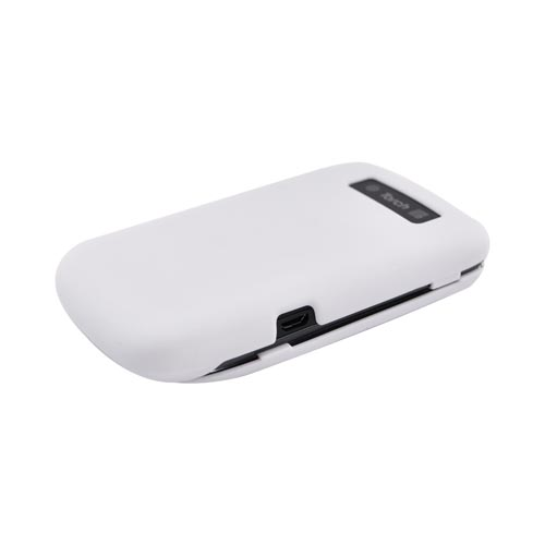 Blackberry Torch 9800 Rubberized Hard Case - White