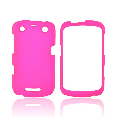 Blackberry Curve 9360/ Apollo Rubberized Hard Case - Hot Pink