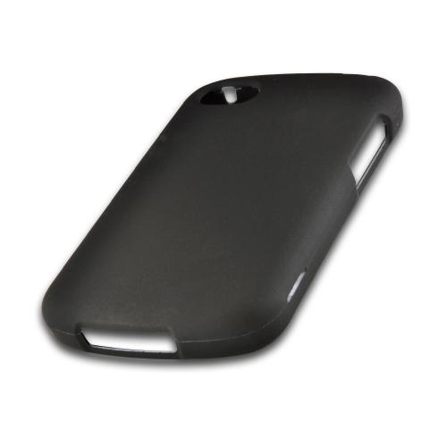 Black Rubberized Hard Case for Blackberry Q10