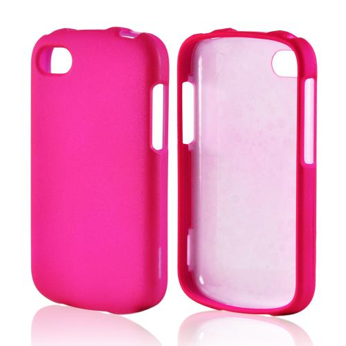Hot Pink Rubberized Hard Case for Blackberry Q10