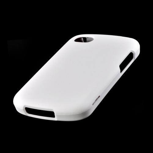 Solid White Rubberized Hard Case for Blackberry Q10