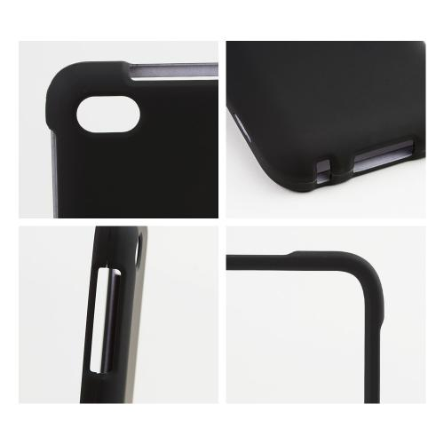 Black Rubberized Hard Case for Blackberry Q5