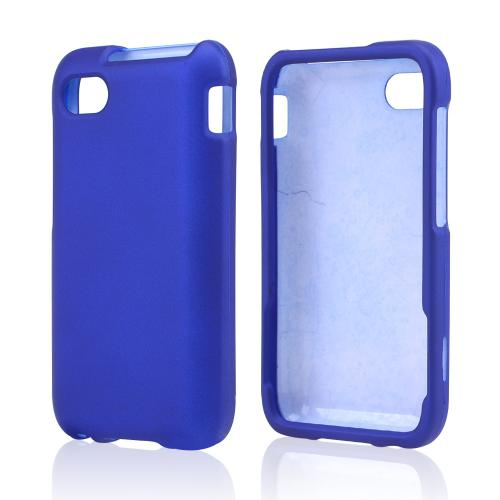 Blue Rubberized Hard Case for Blackberry Q5