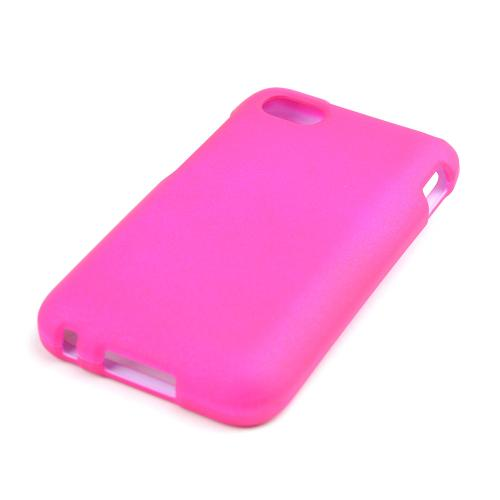 Hot Pink Rubberized Hard Case for Blackberry Q5