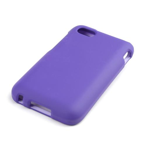 Purple Rubberized Hard Case for Blackberry Q5