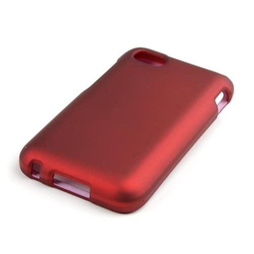 Red Rubberized Hard Case for Blackberry Q5