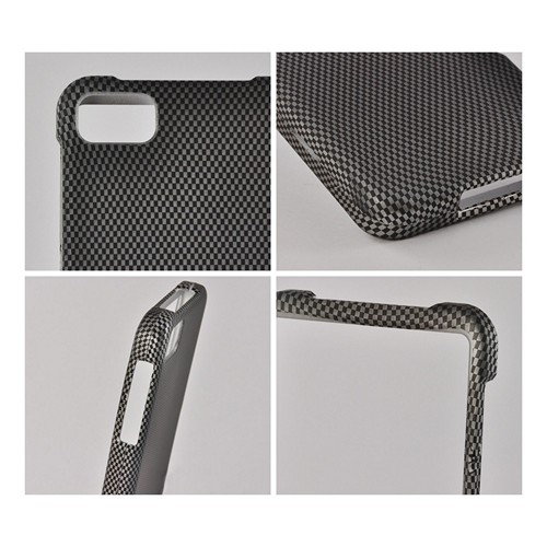 Black/ Gray Carbon Fiber Design Rubberized Hard Case for BlackBerry Z10