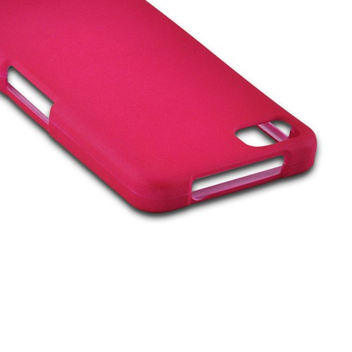 Hot Pink Rubberized Hard Case for BlackBerry Z10