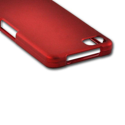 Red Rubberized Hard Case for BlackBerry Z10