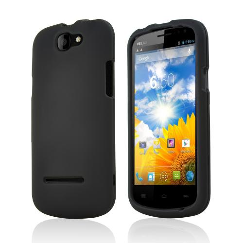 Black Rubberized Hard Case for Blu Dash 4.5