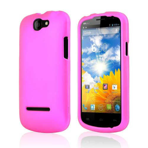Rose Pink Rubberized Hard Case for Blu Dash 4.5